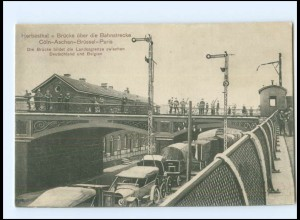 Y16577/ Herbesthal Grenze Belgien-Deutschland Eisenbahn Brücke AK 1915