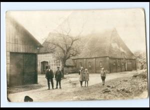 Y16578/ Bauernhaus Privat Foto AK ca.1912 Landwirtschaft