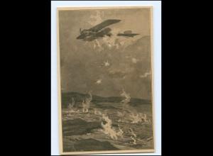 Y16584/ Erkundungsflug in Feindesland 1. Weltkrieg AK Flugzeug