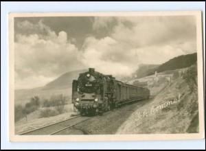 Y16590/ Ich komme! Eisenbahn Lokomotive 62 012 Foto AK 1956