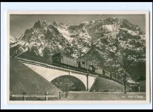 Y16596/ Mittenwaldbahn Foto AK Eisenbahn ca.1935