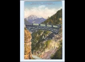 Y16598/ Mittenwaldbahn Schloßbach-Brücke AK Eisenbahn ca.1912