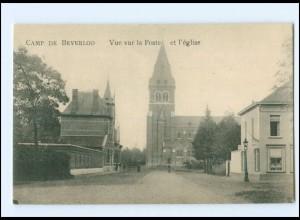 Y16625/ Camp de Beverloo Vue vur la Poste AK 1916 1. Weltkrieg Belgien