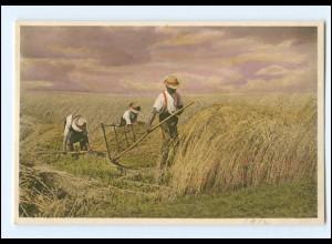 Y16633/ Ernte Heuernte Landwirtschaft Bauer mit Sense AK 1912