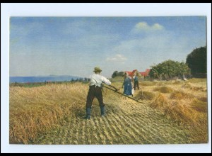 Y16639/ Ernte Heuernte Landwirtschaft Bauer mit Sense Photochromie AK 1912