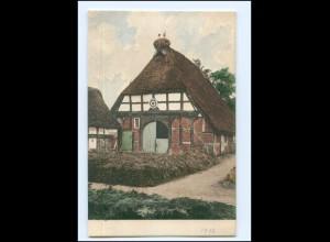 Y16640/ Niedersachsen Scheune mit Störchen Bauernhaus AK ca.1900