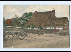 Y16645/ Niedersachsen Dorf Idyll Bauernhaus Landwirtschaft AK ca.1900