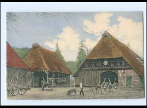 Y16643/ Niedersachsen Strohhaus Bauernhaus Landwirtschaft AK ca.1900