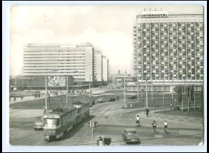 Y16658/ Dresden Interhotel Newa, Straßenbahn AK 1973