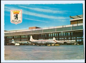 Y16663/ Berlin Flughafen Tempelhof Flugzeuge AK 1966
