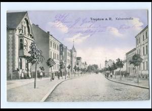 XX10276/ Treptow a. R. Kaiserstraße Pommern AK 1916