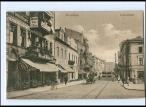 XX10317/ Graudenz Lindenstraße Straßenbahn Westpreußen AK 1916