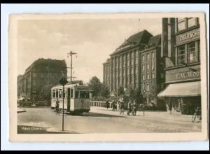 XX10323/ Gleiwitz Haus Oberschlesien Straßenbahn AK 1943