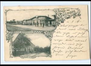 XX10341-2838/ Gruß aus Sulingen Bahnhof Postamt AK 1903