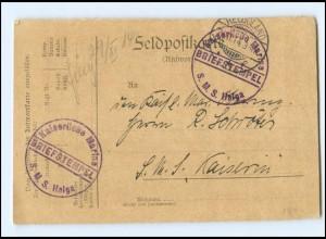 S2396/ Feldpost Kaiserliche Marine S.M.S. Helga 1914