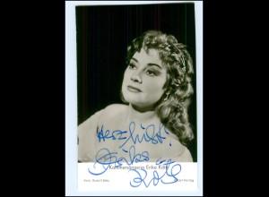 S2172/ Kammersängerin Erika Köth Oper Original Autogramm 1969