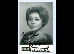 S2174/ Opernsängerin Felicia Weathers Decca-Karte Original Autogramm