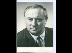 S2190/ Bundesminister Georg Leber Original Autogramm 1968