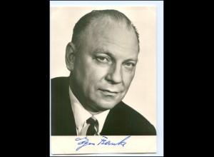 S2196/ Bundesminister Egon Franke Original Autogramm 1969