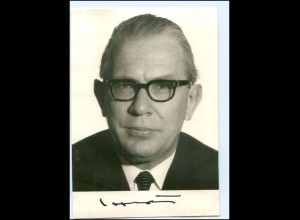 S2197/ Kai Uwe von Hassel Original Autogramm 1969