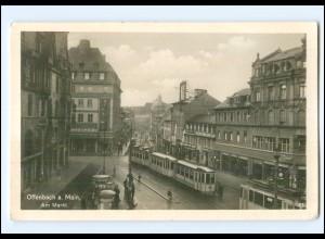 V689/ Offenbach Markt Straßenbahn Foto AK Foto AK