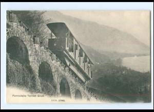 V291/ Funiculaire Territet Glion Bergbahn AK Schweiz Waadt ca.1910