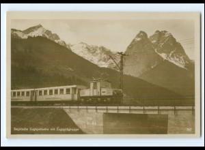 V290/ Bayrische Zugspitzbahn Eisenbahn Foto AK ca.1930