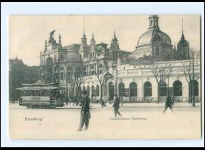 V276/ Hamburg St. Pauli Concerthaus Hamburg Straßenbahn AK 1905