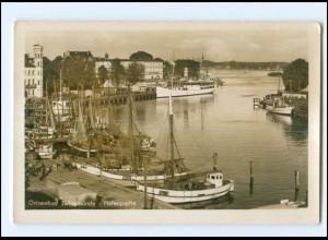 V270/ Swinemünde Hafen Fischerboote Foto Ak ca.1938 Pommern