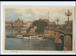 Y16823/ Hamburg Lombardsbrücke Alsterdampfer AK