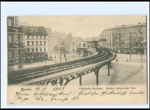 Y16845/ Berlin Elektrische Hochbahn Bahnhof Schlesisches Tor 1903 AK