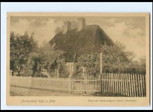 Y16779/ Wyk auf Föhr Haus des Seehundjägers David Hinrichsen 1919 AK