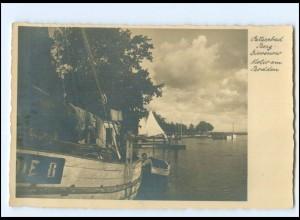 Y17236/ Ostseebad Berg-Dievenow Fischerboote Foto AK Pommern ca.1935