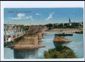 V349/ Cüstrin Küstrin Oderbrücke 1916 AK Ostbrandenburg