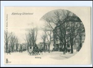 Y16825/ Hamburg Uhlenhorst Hofweg Kutsche ca.1900 AK