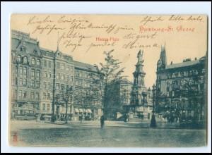 Y16805/ Hamburg St. Georg Hansaplatz 1902 AK
