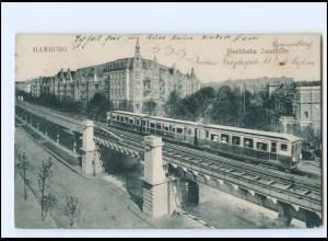 V337/ Hamburg Eppendorf Isestraße Hochbahn AK 1922
