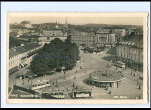 V330/ Graz Jakominiplatz Straßenbahn Foto AK 1942 Stm.