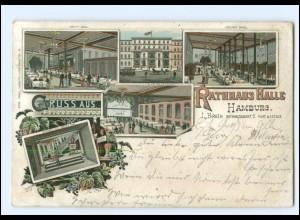 Y16812/ Hamburg Rathaus Halle 1897 Litho AK