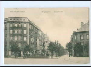 Y16833/ Bremerhaven Siegesplatz Lloydstraße 1912 AK