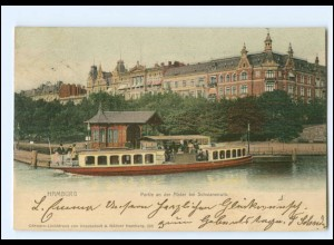 Y16818/ Hamburg Alster bei Schwanenwik 1902 AK