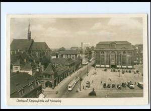 V374/ Dortmund Hansaplatz Straßenbahn Foto AK 1941