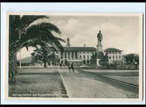V388/ Pretoria Südafrika Railway Station Bahnhof Foto AK 1936