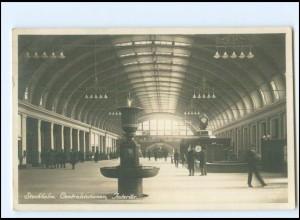 Y16970/ Stockholm Centralstationen Bahnhof Foto AK 1928 Schweden