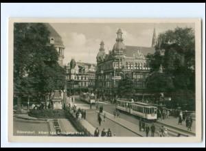 V259/ Düsseldorf Albert Leo Schlageter-Platz Straßenbahn Foto AK 1934