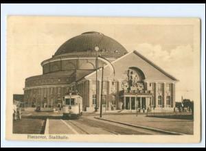 Y16836/ Hannover Stadthalle Straßenbahn 1915 AK