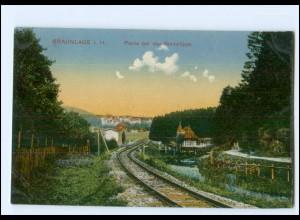 V384-3389/ Braunlage Harz Einsenbahnstrecke bei der Steinklippe AK 1910