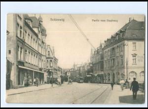 V252/ Schleswig Stadtweg Straßenbahn AK 1915
