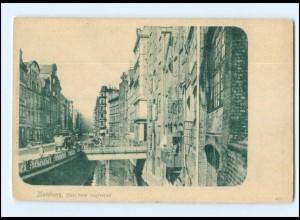 Y16816/ Hamburg Altstadt Fleet beim Hopfensack ca.1900 AK