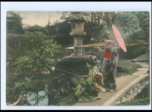 V401/ Geisha Japan schöne AK ca.1910